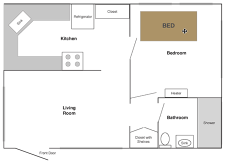 My apartment layout