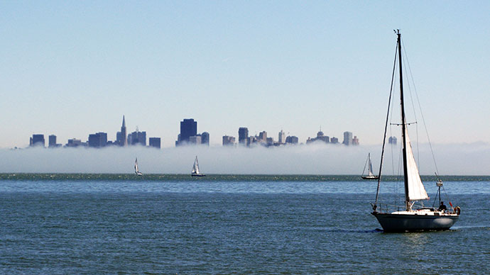 Foggy San Francisco from Sausalito
